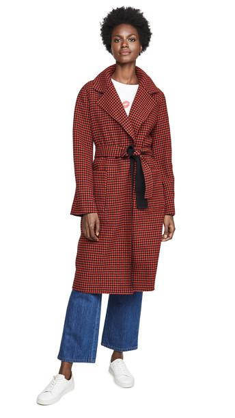 Veronica Beard Lyonia Cashmere Coat in red / multi