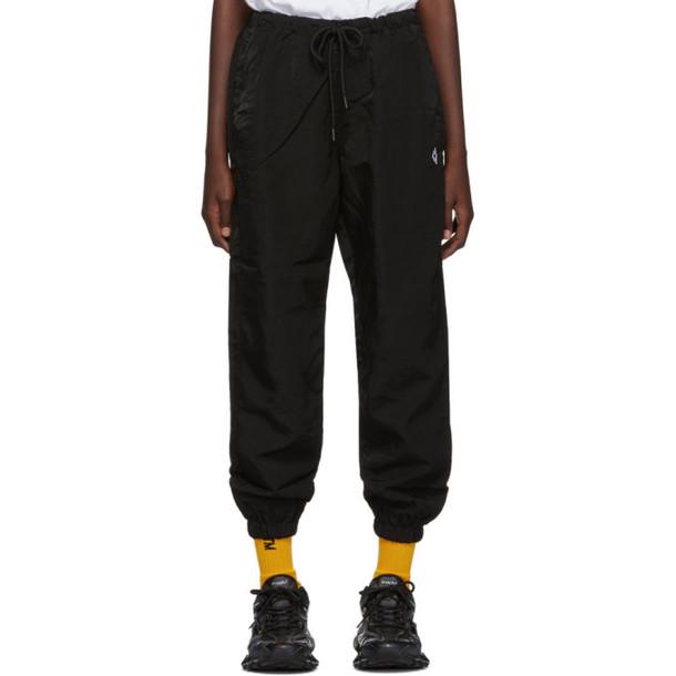 Marcelo Burlon County of Milan Black Cross Lounge Pants