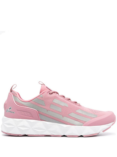 Ea7 Emporio Armani logo lace-up sneakers in pink
