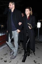 pants,sofia richie,celebrity,date outfit,coat