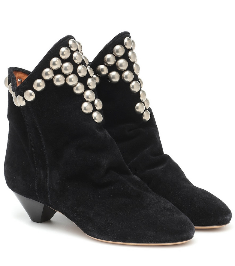 Isabel Marant Doey suede ankle boots in black