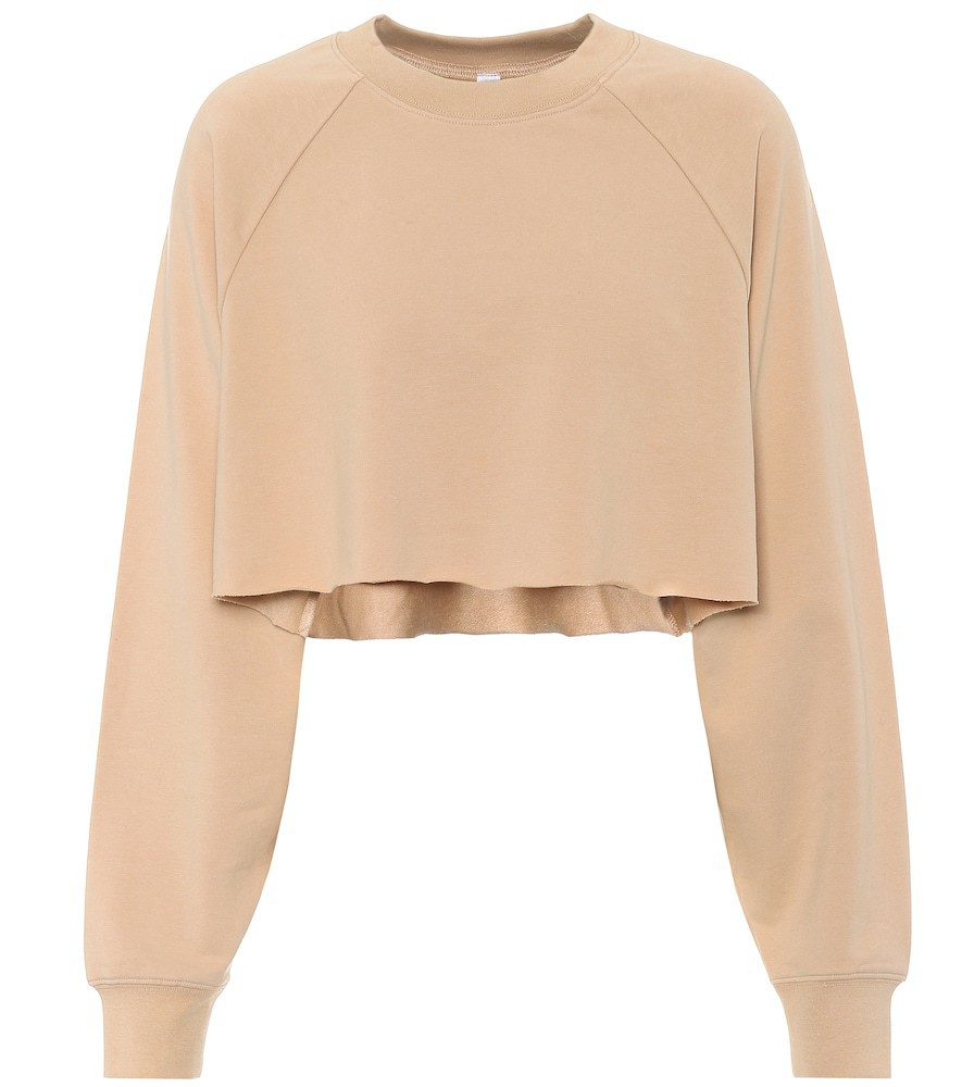 Alo Yoga Double Take cotton-blend sweatshirt in beige