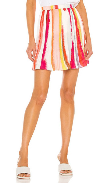 BB Dakota by Steve Madden Color My World Skirt in Orange,Pink in multi