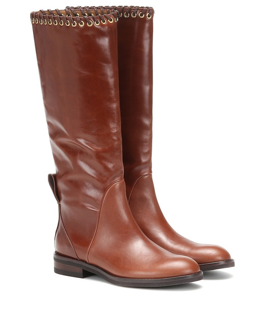 See By Chloé Helen leather knee-high boots in brown