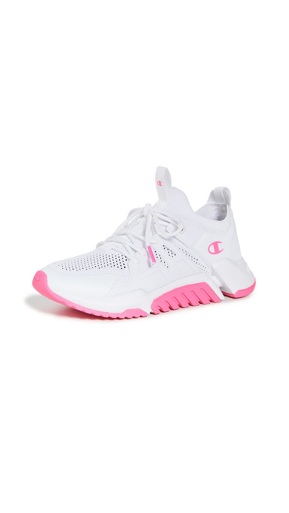 Champion D1 Sneakers in pink / white
