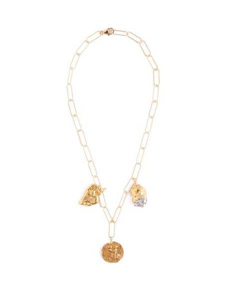 Alighieri - Girl And Friendship 24kt Gold Plated Necklace - Womens - Gold