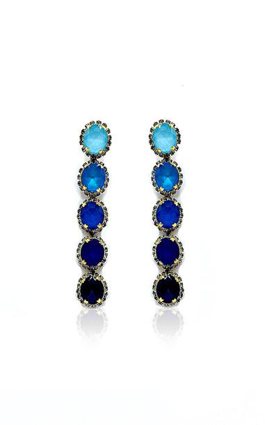 Elizabeth Cole Von Earrings in blue