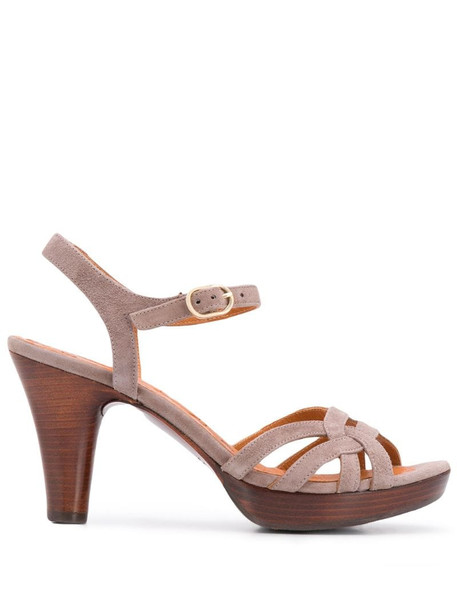 Chie Mihara 90mm open toe sandals in grey