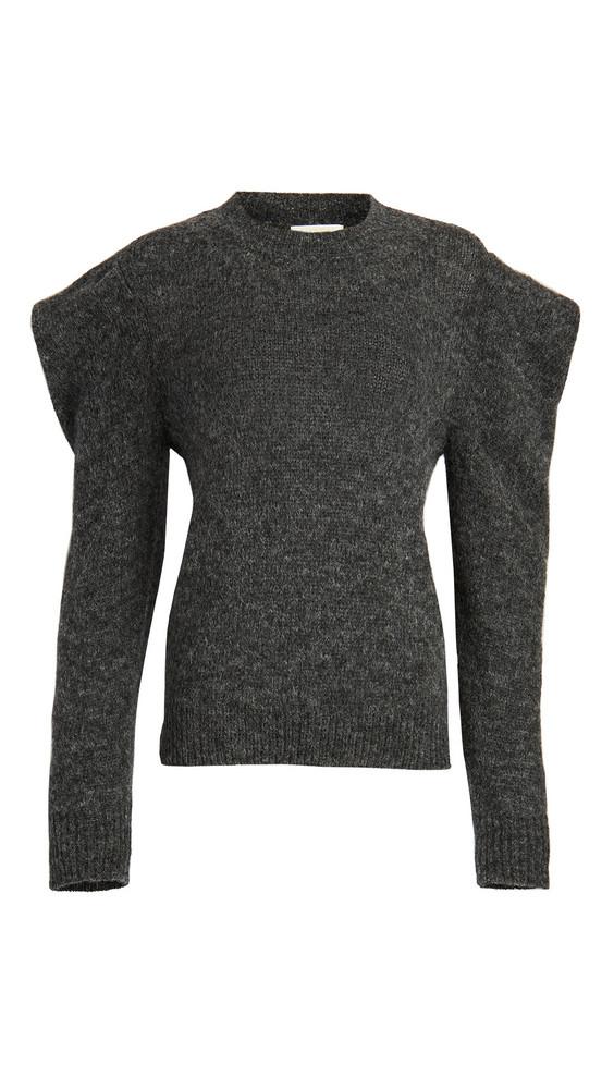 Nation LTD Vicki Bold Shoulder Alpaca Sweater in charcoal