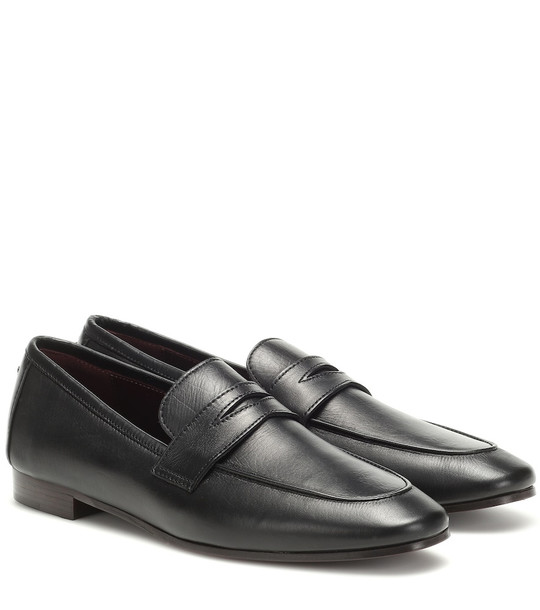 Bougeotte Leather loafers in black