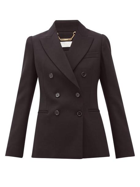 Chloé Chloé - Festive Double-breasted Wool-blend Jacket - Womens - Black