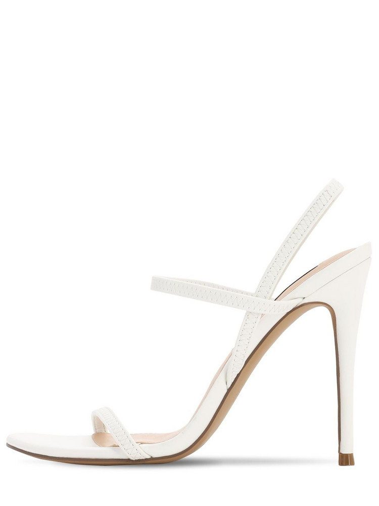 STEVE MADDEN 120mm Elastic Faux Leather Sandals in white