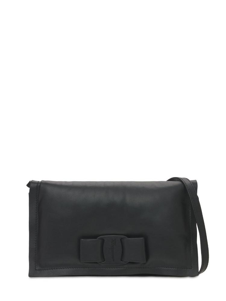 SALVATORE FERRAGAMO Mini Leather Shoulder Bag in black