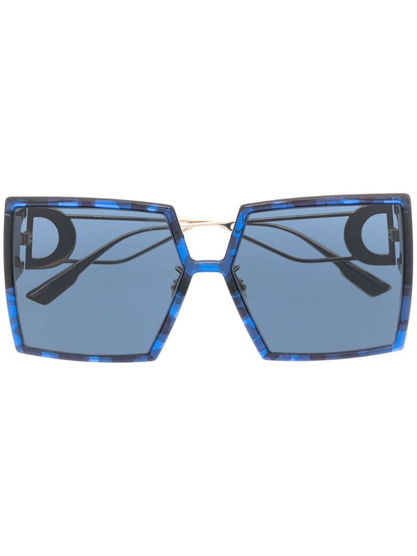Dior Eyewear 30Montaigne oversized-frame sunglasses in blue