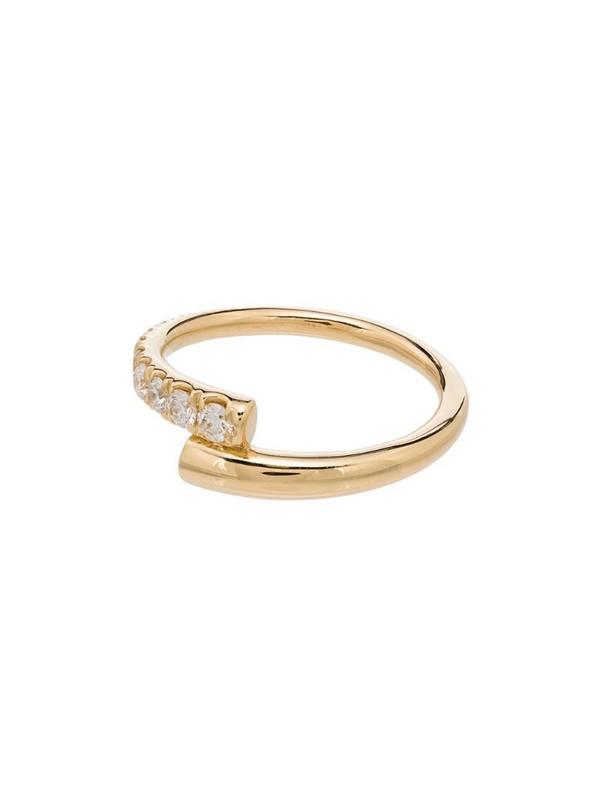 Melissa Kaye 18kt pink gold lola pave diamond ring
