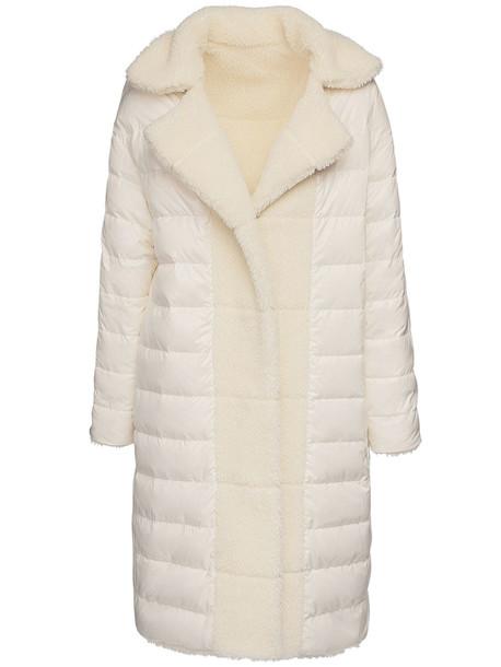 MONCLER Bagaud Faux Fur Coat in white