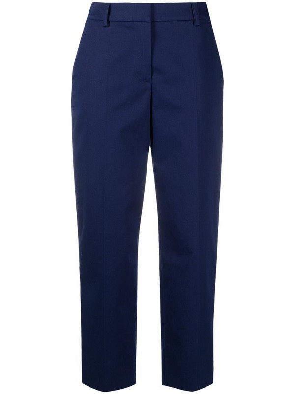Boutique Moschino high-waisted wide leg trousers in blue