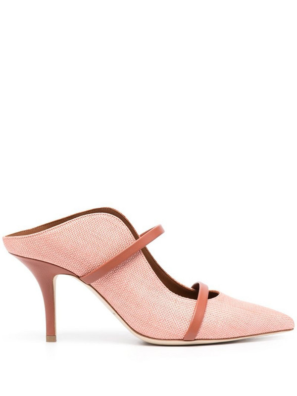 Malone Souliers Maureen pointed mules in pink