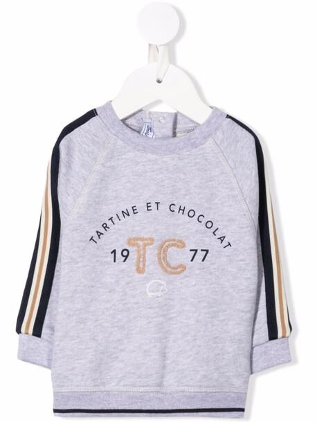 Tartine Et Chocolat logo print sweatshirt - Grey