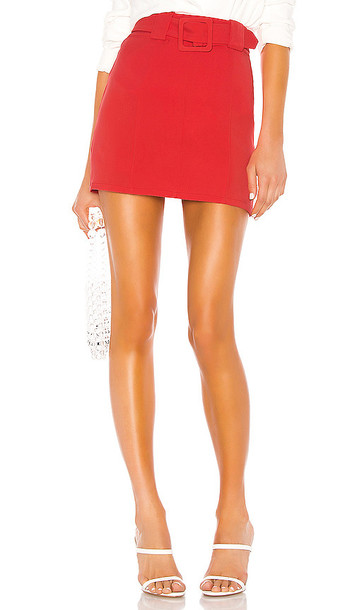 Lovers + Friends Lovers + Friends Lewis Skirt in Red