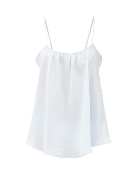Loup Charmant - Scoop-neck Silk Camisole Top - Womens - Light Blue