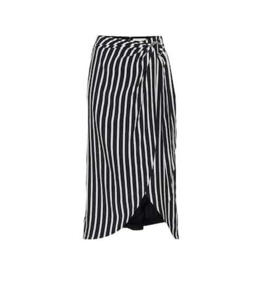 Jonathan Simkhai Striped wrap skirt