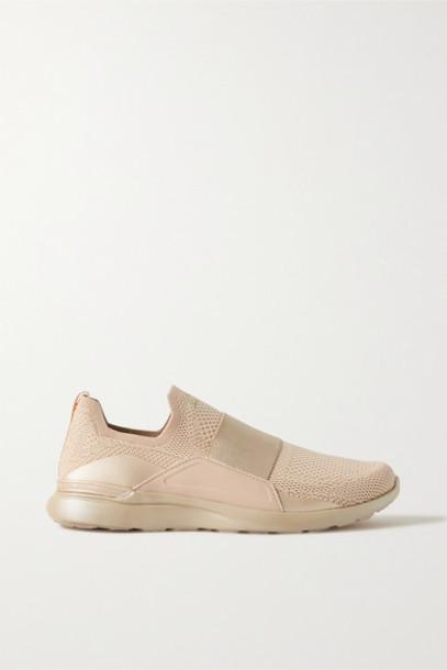 APL Athletic Propulsion Labs - Techloom Bliss Mesh And Neoprene Sneakers - Beige