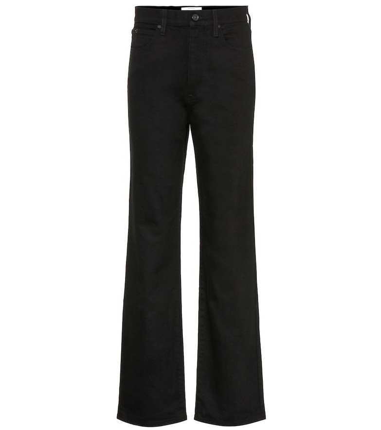Slvrlake Kick Flare high-rise jeans in black