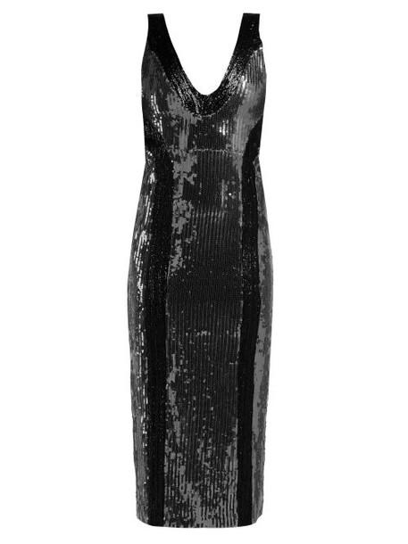 Galvan - Hero Sequinned Dress - Womens - Silver Multi