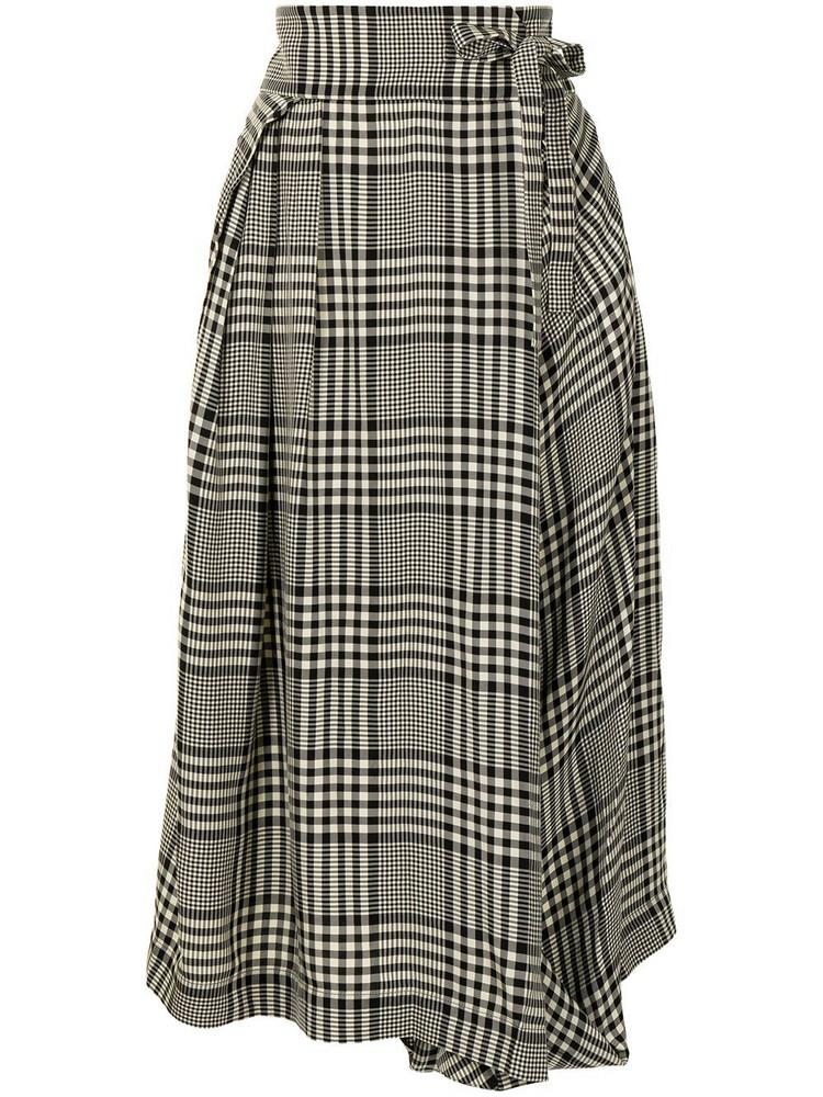 Chloé Chloé check-pattern wrap-style skirt - Grey
