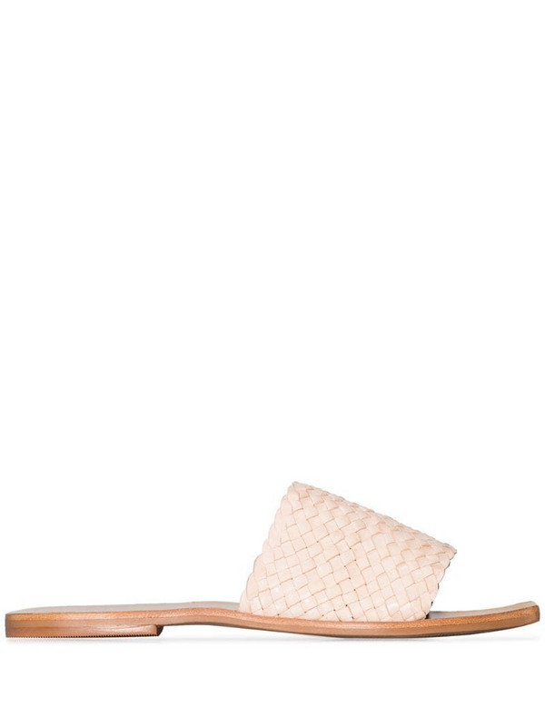 St. Agni Alice woven leather sandals in neutrals