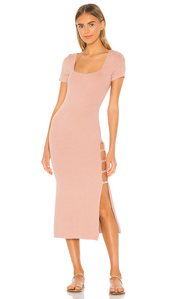 Song of Style Rigby Midi Dress in Blush