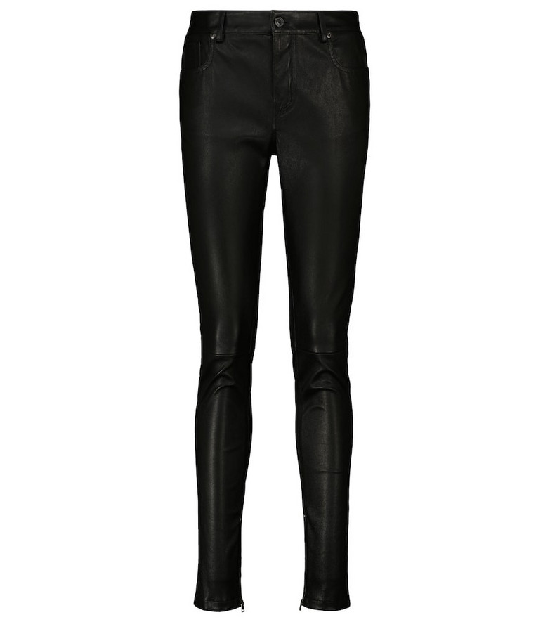 Tom Ford High-rise skinny leather pants in black