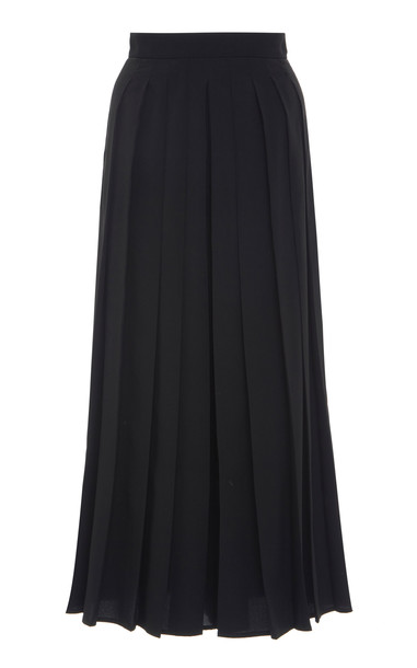 Max Mara Uditore Pleated Crepe Culottes Size: 0 in black
