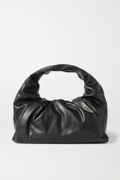 Bottega Veneta - The Shoulder Pouch Leather Bag - Black