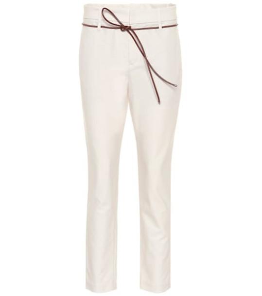 Brunello Cucinelli Mid-rise cigarette pants in beige / beige