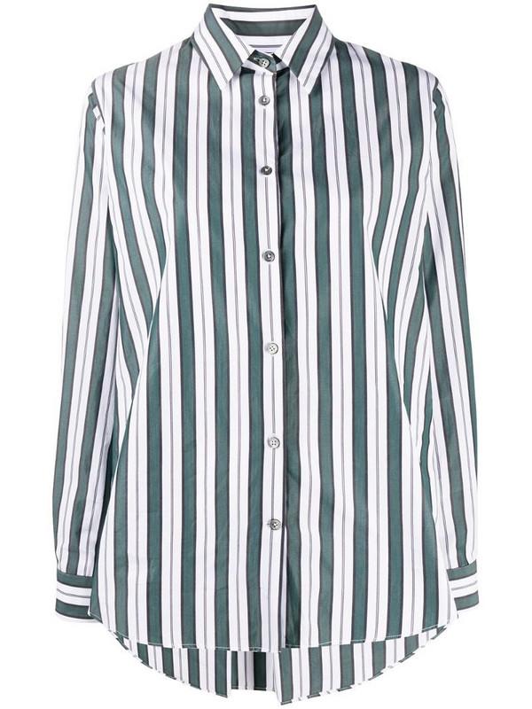 Odeeh striped cotton shirt in green