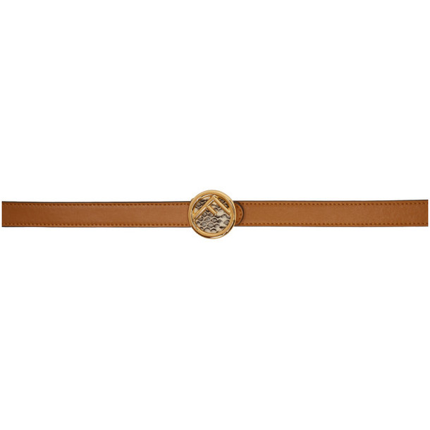 Fendi Brown Slim 'F is Fendi' Belt