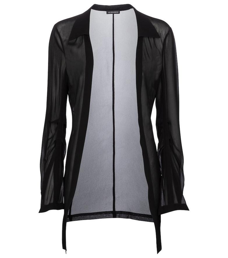Ann Demeulemeester Sheer jacket in black