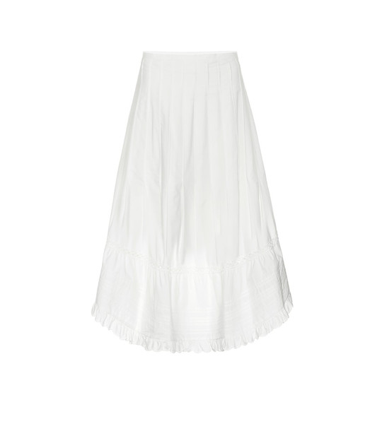 See By Chloé Cotton midi skirt in white
