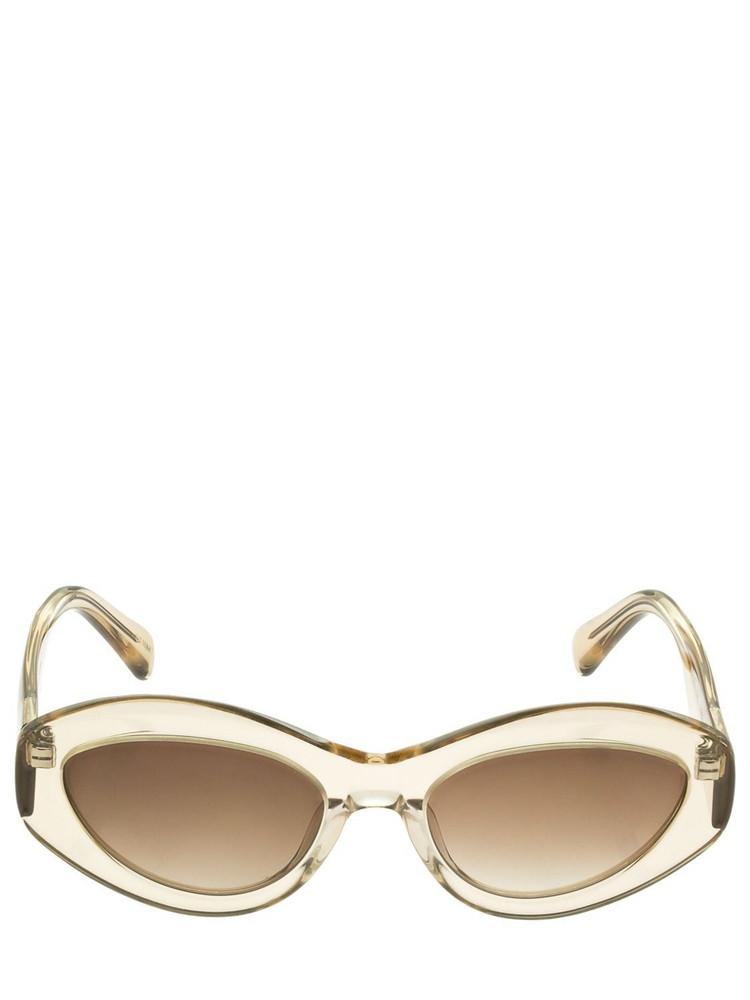 CHIMI 09 Cat-eye Acetate Sunglasses in ecru