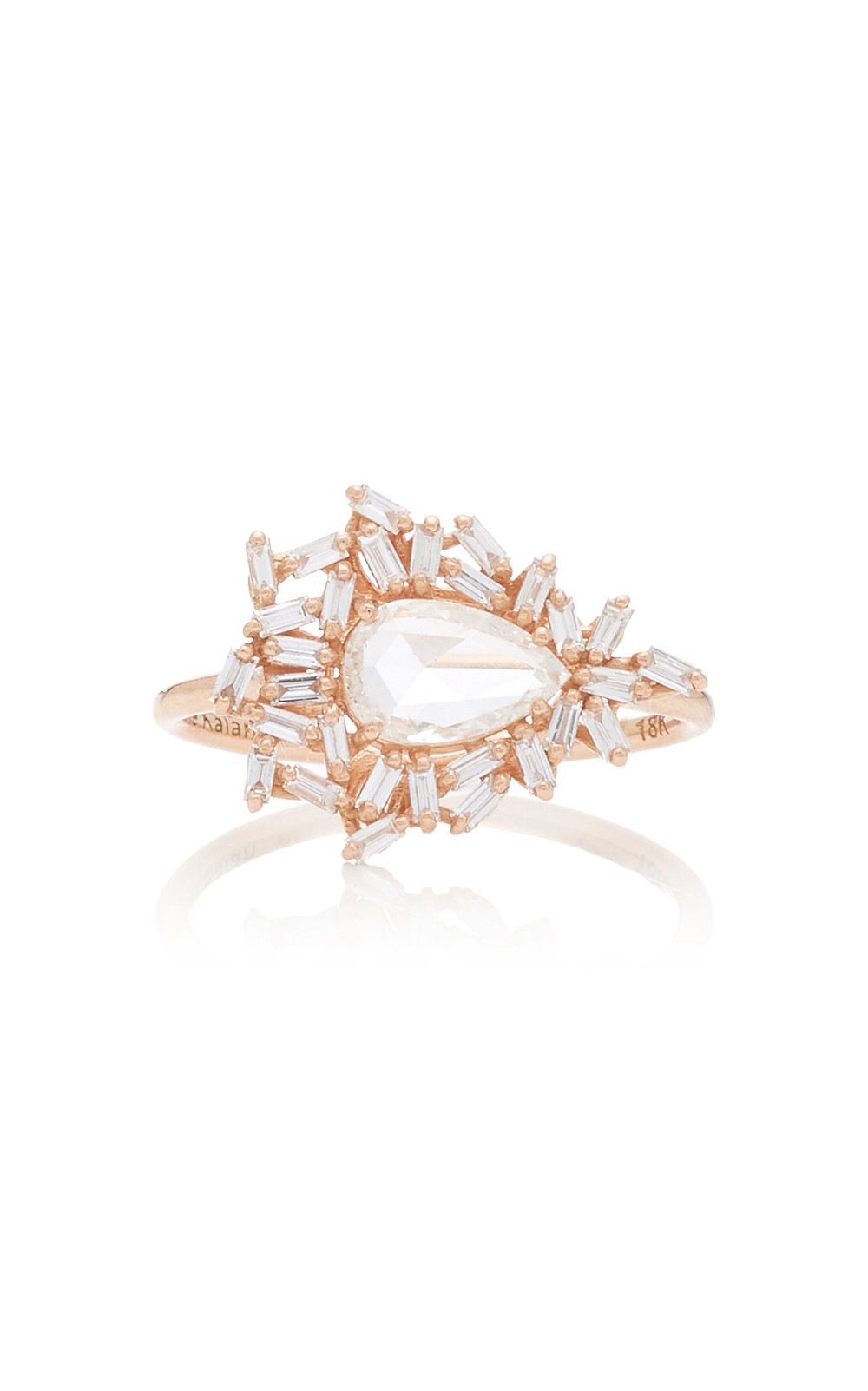 Suzanne Kalan One Of A Kind 18K Rose Gold Diamond Ring in white