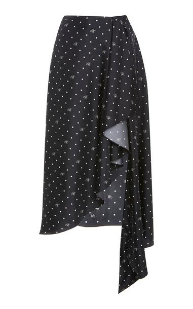 MONSE M Dot Cascade Slip Skirt in print