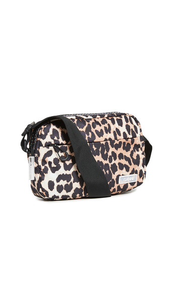 GANNI Tech Crossbody Bag in leopard