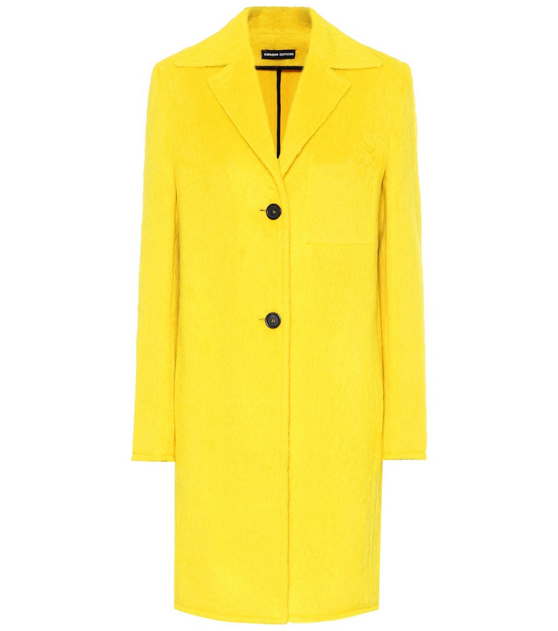Kwaidan Editions Alpaca and wool coat in yellow