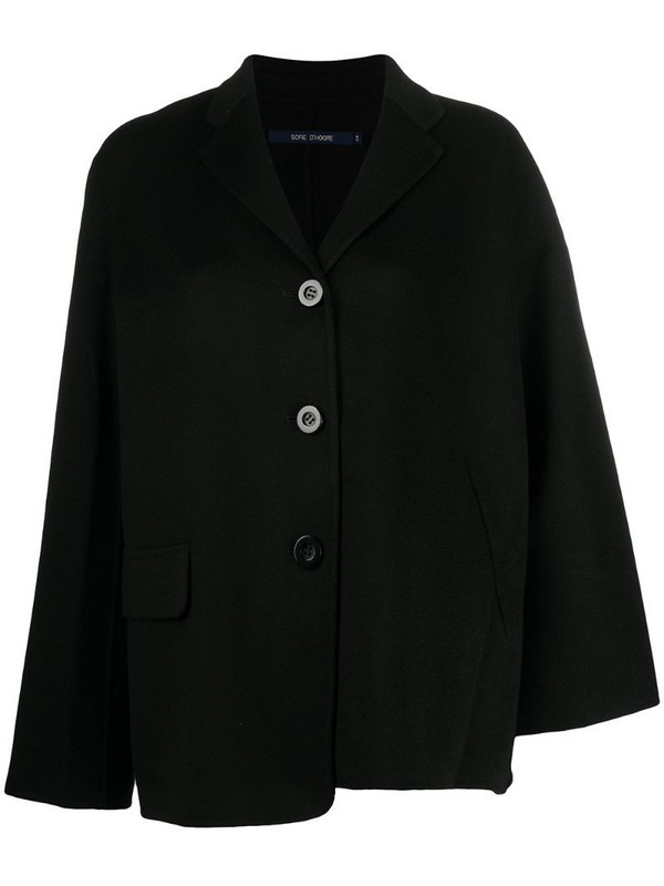 Sofie D'hoore single breasted boxy blazer in black