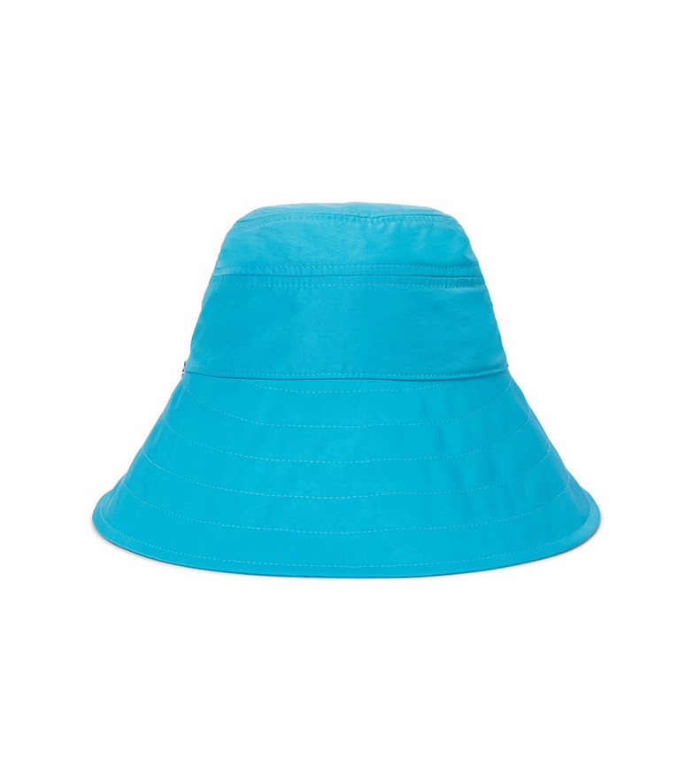 The Attico Nylon bucket hat in blue