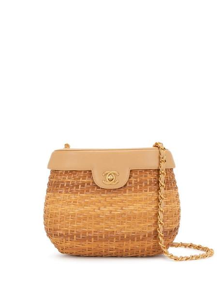 Chanel Pre-Owned 1998 Basket shoulder bag in brown