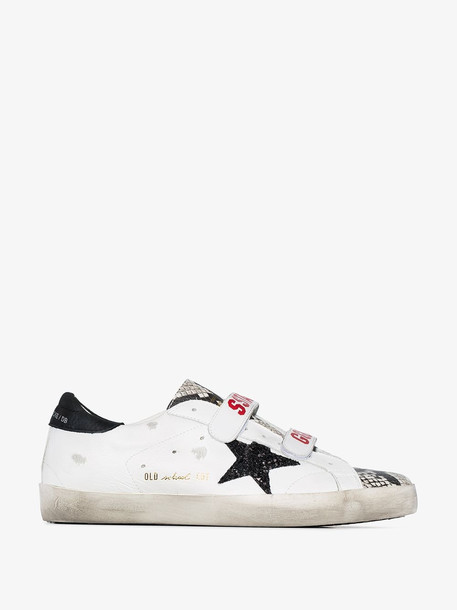 Golden Goose white Old School Superstar leather sneakers