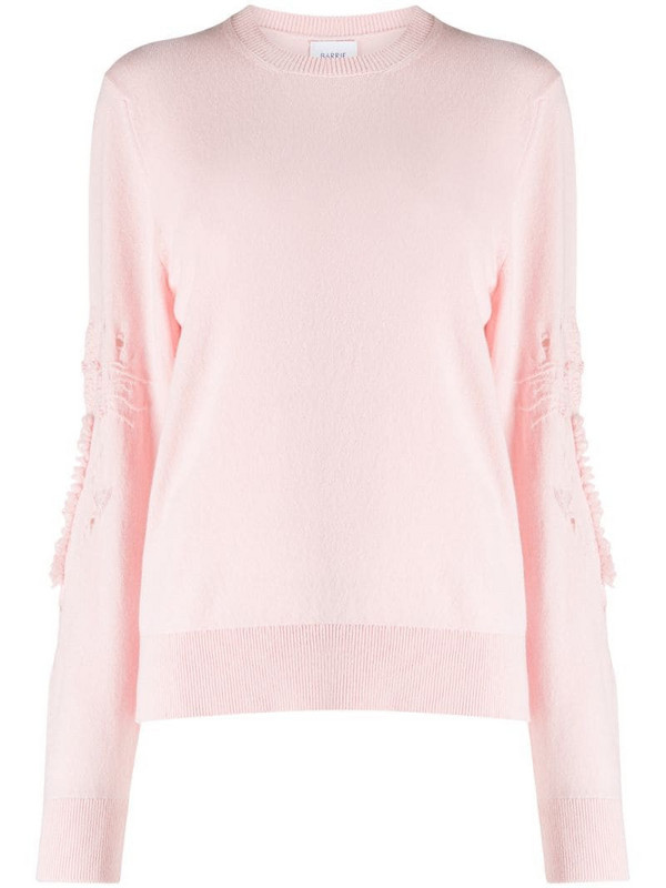 Barrie Timeless cashmere jumper in pink